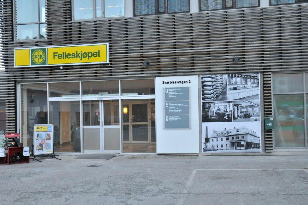 Skilt til fasade for Felleskjøpet