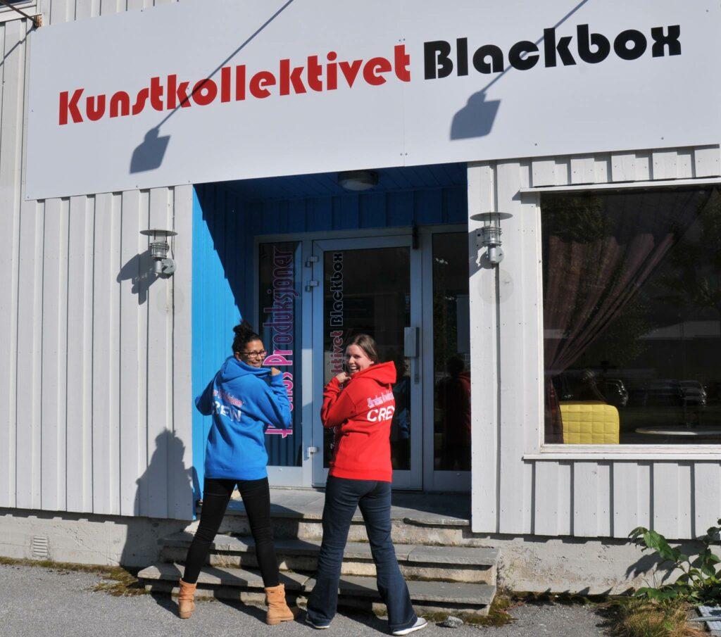Fasadeskilt for Kunstkollektivet Blackbox
