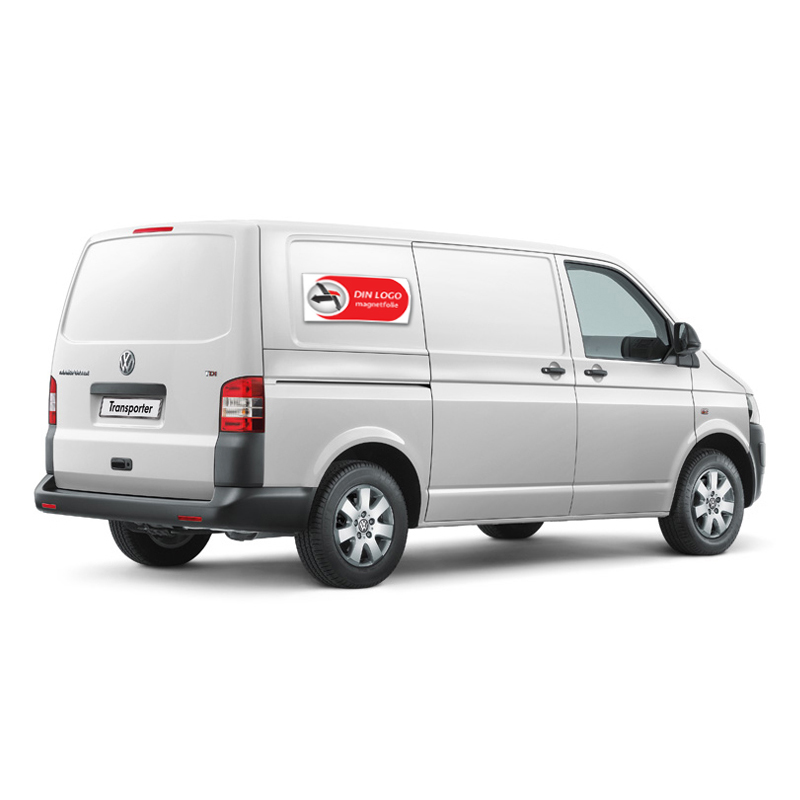 Din logo på Transporter eksempel magnetfolie