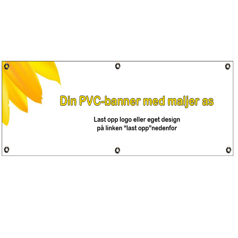 Eksempel på PVC-banner