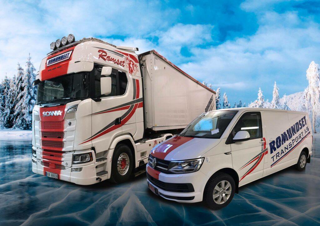 Foliert lastebil og varebil