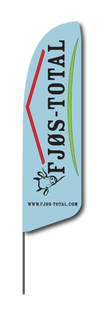 Beachflagg Fjøs-Total