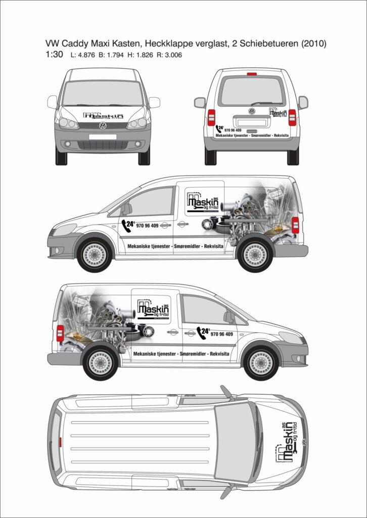 Dekorforslag VW Caddy varebil