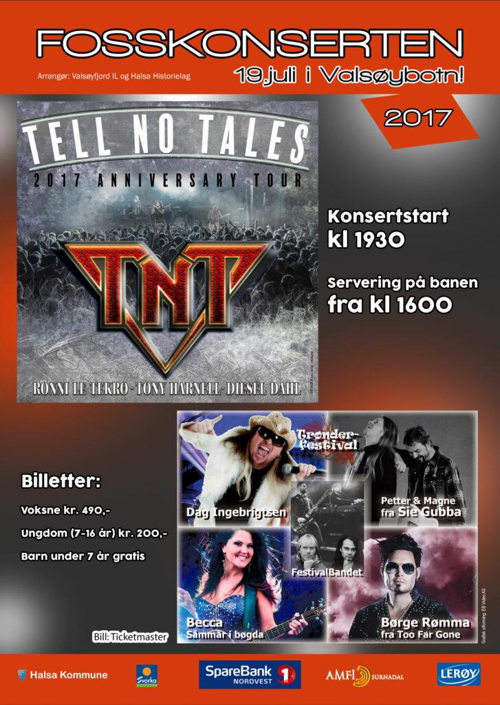 Plakat for Fosskonserten 2017