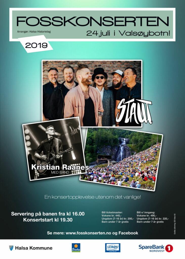 Plakat for Fosskonserten 2019