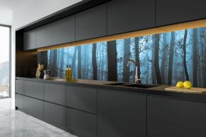 Illustrasjon Kjøkkenplate Blå Skog