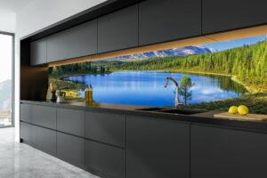Illustrasjon Kjøkkenplate Utsikt Vann