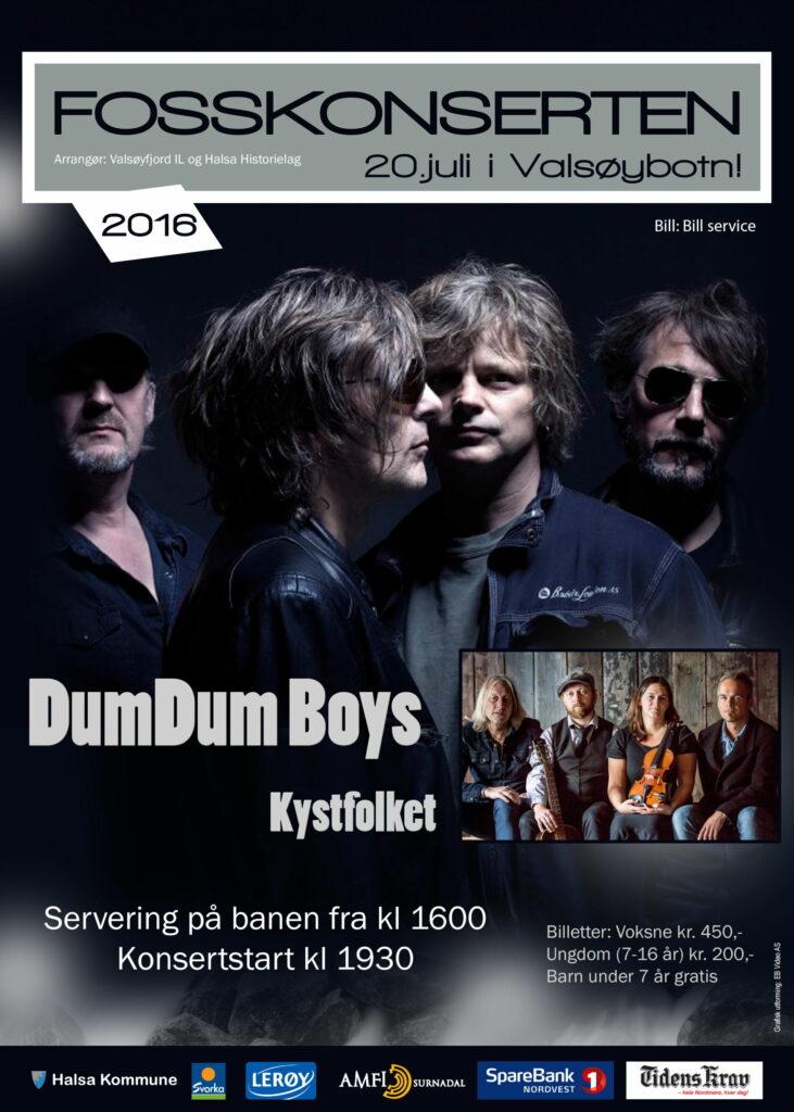 Plakat for Fosskonserten 2016