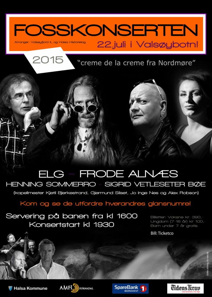Plakat for Fosskonserten 2015